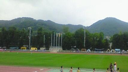 円山競技場から西を仰ぐ