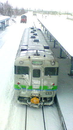 JR富良野駅で