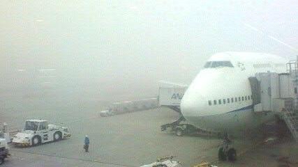 ジャンボも霧の中