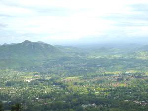 プランタイル北東の山から:眺望