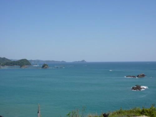 太平洋を望む高台「黒潮本陣」からの景観