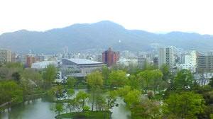 中島公園と藻岩山