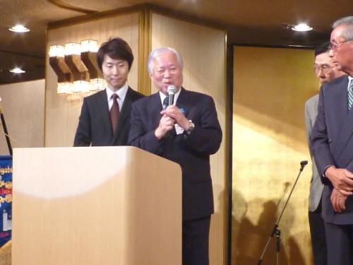 横田滋さんもご挨拶