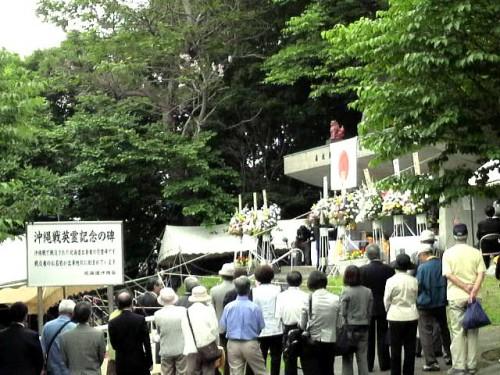 2010.6.23札幌での慰霊祭