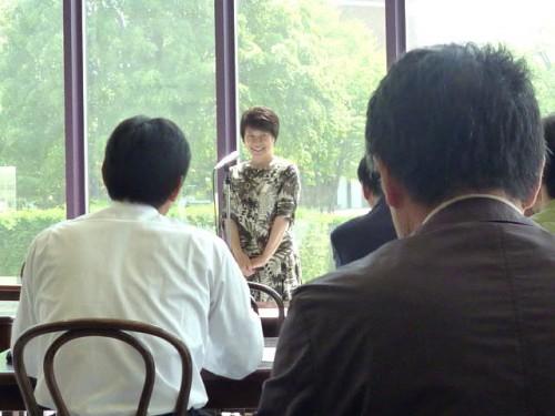 総会:会長の本田優子教授のご挨拶
