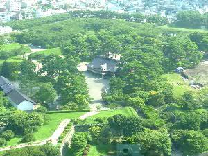 五稜郭タワーから函館奉行所を望む