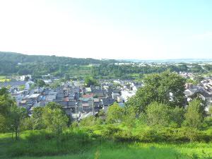城ヶ山公園から諏訪町方面の展望