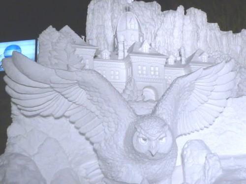 今年の大雪像の一つです