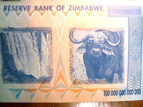 アフリカ・ジンバブエの紙幣