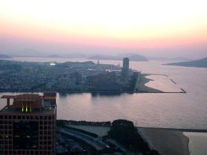 福岡タワーから西を臨む