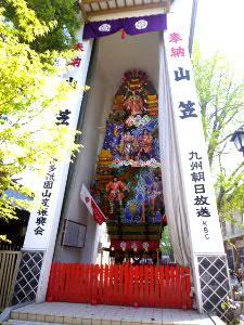 櫛田神社で