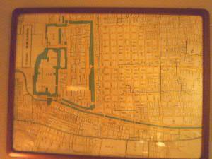 店内の古地図