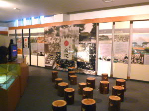 内部の豊富な展示物群