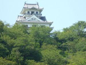 城山公園の館山城(復元)