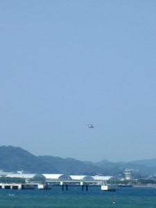 海上自衛隊館山航空隊で、ヘリコプター訓練