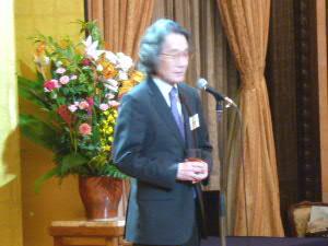 乾杯:広渡清吾さん(日本学術会議会長)