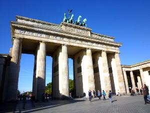 ブランデンブルグ門:旧東ドイツ側から