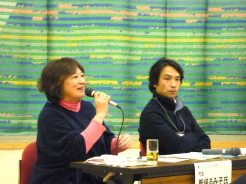 左:司会の新保さん、右:岩井さん