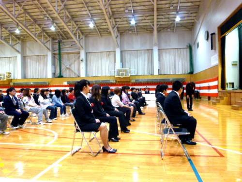 定時制高校の卒業式:卒業生31名