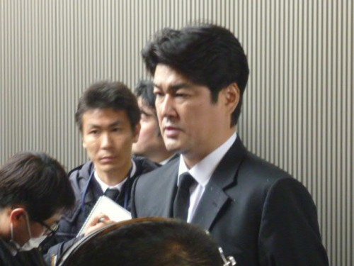 インタビューに答える全日本男子監督植田