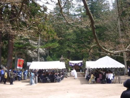 飯盛山では記念祭祀