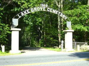 住宅の隣町にある古くからある墓地