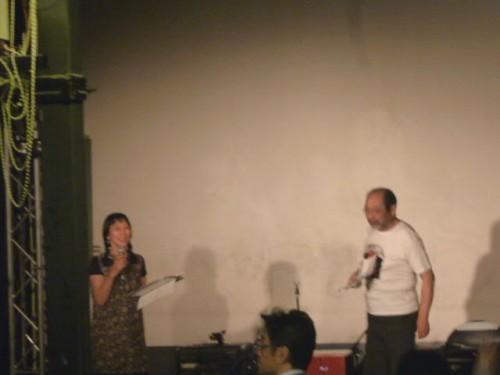 パーティでの司会:中島洋・はるみ夫妻