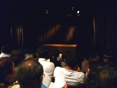 「アンダンテ・カンタービレ」初日、開演直前:シアターZoo