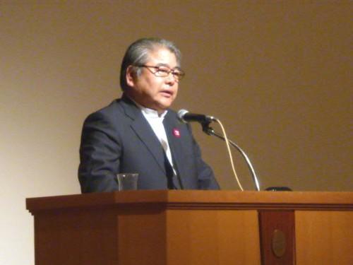 上田文雄市長の講演