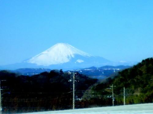 房総半島から東京湾越しに見る富士山も素晴らしい