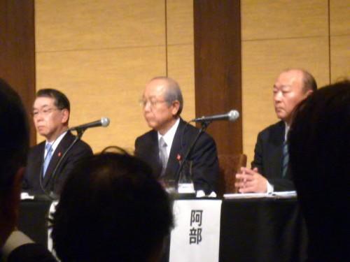 岩手、仙台、福島の各経済同友会代表幹事からの現況報告