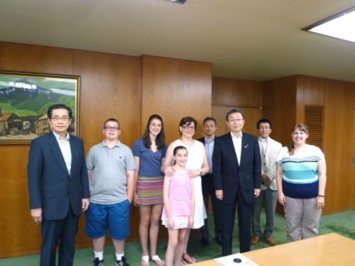 北海道・窪田毅知事室長を表敬訪問:窪田さんはロサンゼルス所長時代にKevinとアメリカでお会いしてました