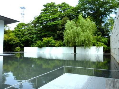 中庭の水:静寂