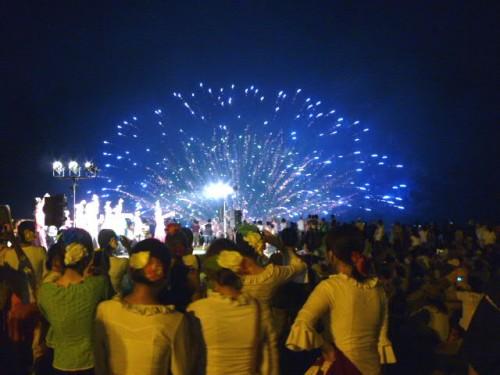 学生フラメンコ大会前夜祭の舞台とコラボ