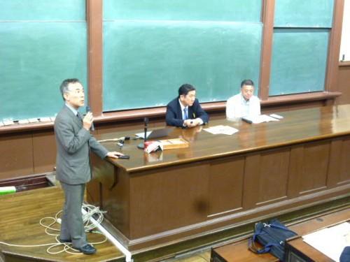 ファシリテーターの橋本先生とパネラーの西島さんと遠藤さん