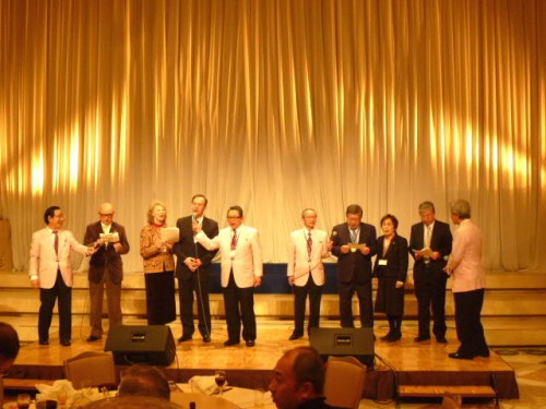 最後は参加者全員でロシア民謡の大合唱!