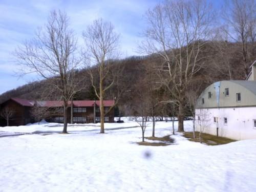 旧校舎と体育館も活用した広大な敷地に
