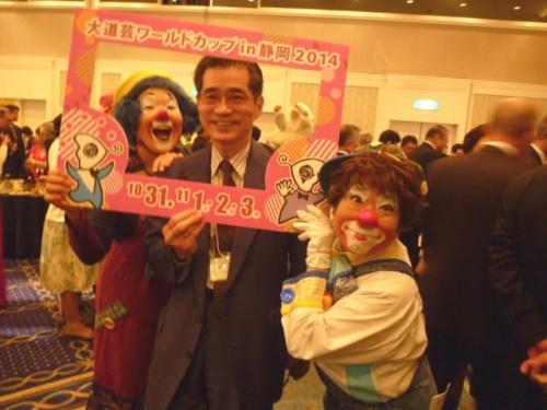 大道芸ワールドカップ in 静岡2014のボランティアピエロの方々