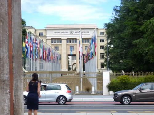 国際連合(UN)・ヨーロッパ本部正面