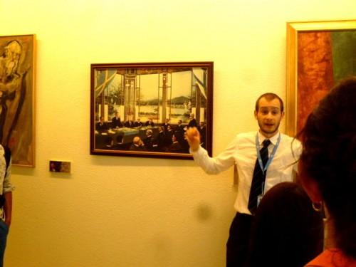 新渡戸稲造・事務局次長時代の「オーランド裁定」を誇らしげに説明する国連職員