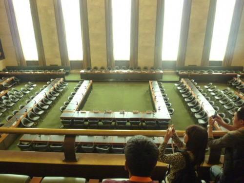 朝鮮戦争をはじめとして第二次世界大戦後の数々の休戦協定を議論・調印した会議場