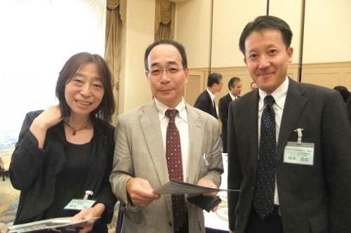 きたネット常務理事・宮本尚さん、小澤祥司さん、北見看護大学・根本さん