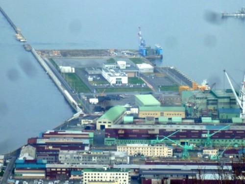 函館山から望むシンポ会場