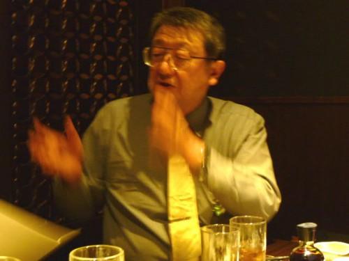 演者の渡辺大助さん@懇親会