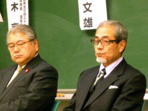 第二部パネルディスカッション、上田文雄札幌市長と石橋組合長