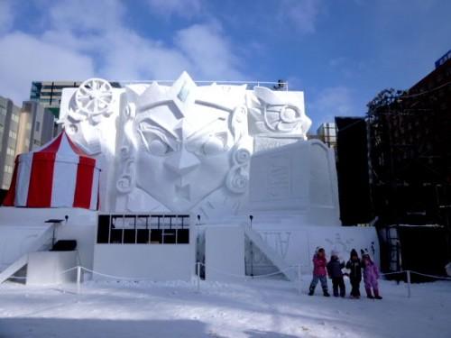 昼の5丁目雪の舞台