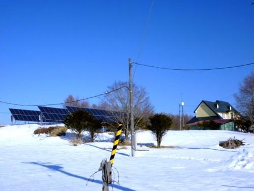 自給の太陽光パネル