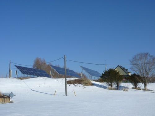 基本的には各酪農家ごとの太陽光発電装置