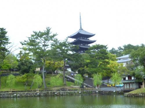 猿沢の池から五重塔を臨む