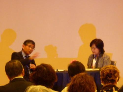 樋野興夫先生と北室かず子さんのトーク